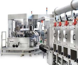 Industrial labeling Machine Sacmi Form Sleeve Labellers Side View